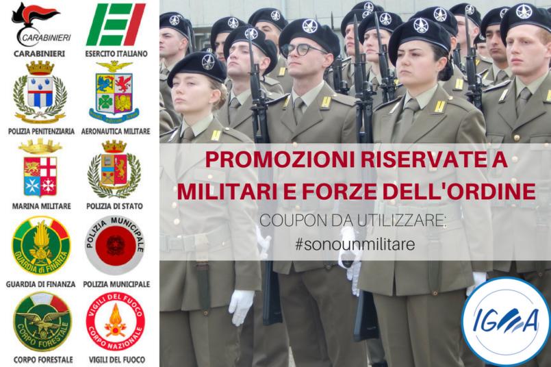 PROMOZIONI RISERVATE A MILITARI E FORZE DELL'ORDINE