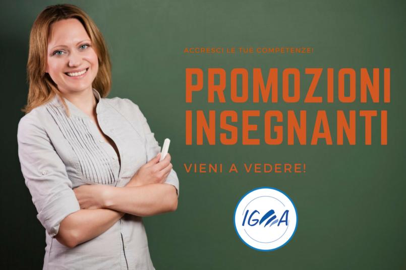 Promozioni riservate agli insegnanti